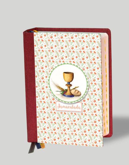 Biblia Cáliz Margaritas Rojas