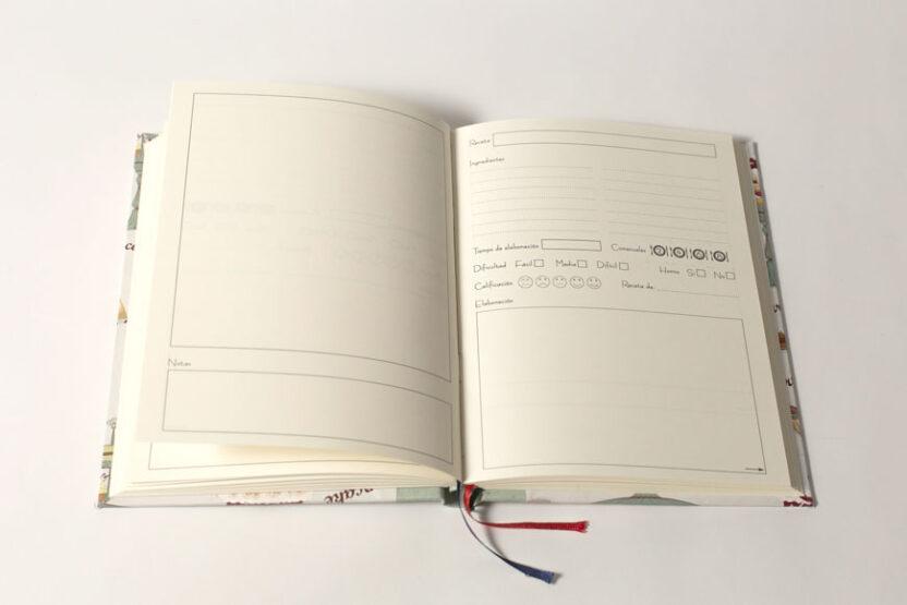Cuaderno de cocina Abierto