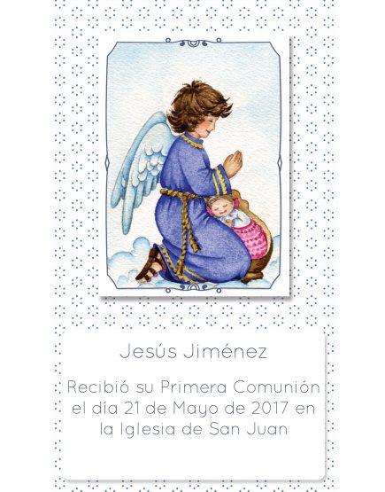 Estampita de Comunión Ángel Puntitos Jesús