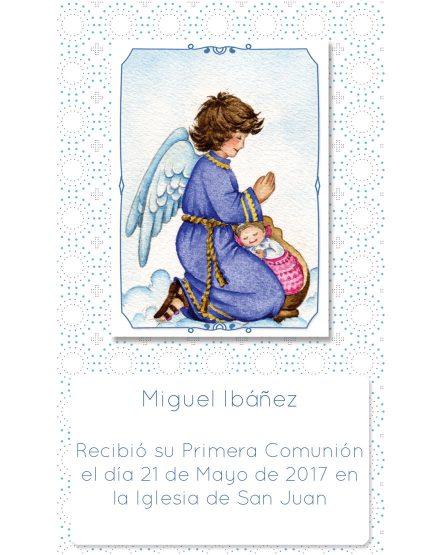Estampita de Comunión Ángel Círculos Miguel