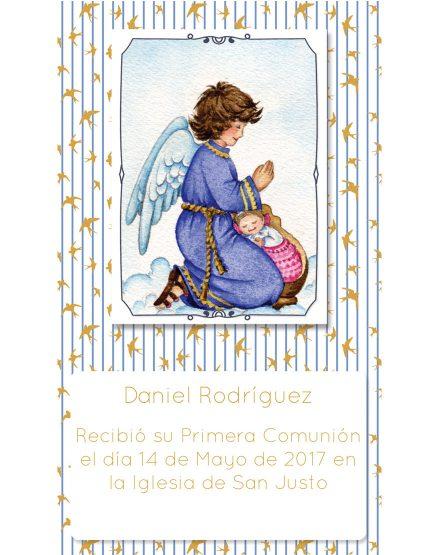 Estampita de Comunión Ángel Rayas Daniel