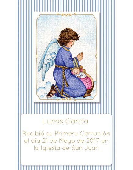 Estampita de Comunión Ángel Rayas Lucas