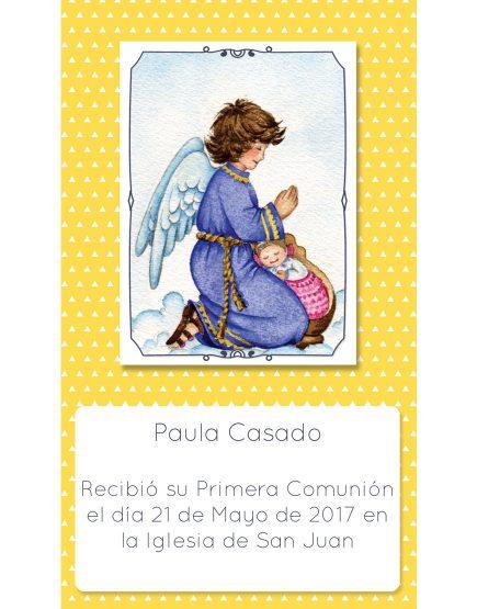 Estampita de Comunicación Ángel Triángulo Paula
