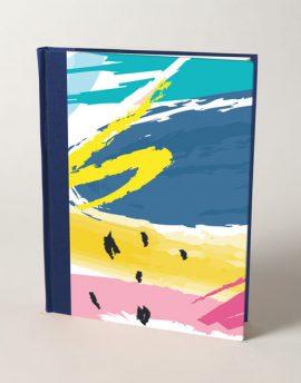 Cuaderno en Blanco Abstracto Colores
