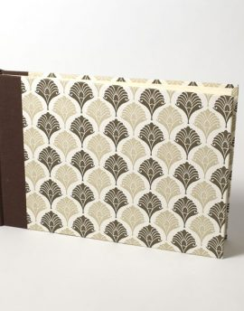 Cuaderno en Blanco Papel Italiano Marrón
