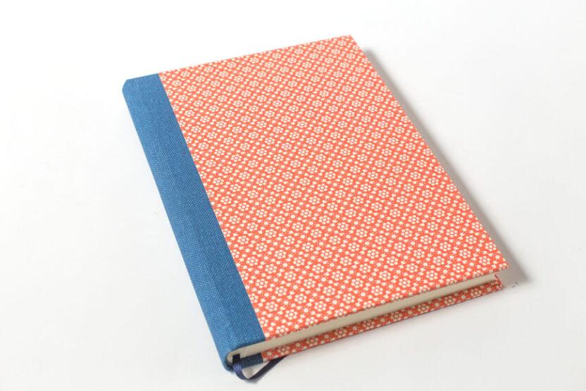 Cuaderno en Blanco Papel Italiano Naranja