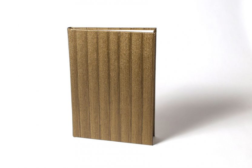 Cuaderno en Blanco Vinilo Bronce