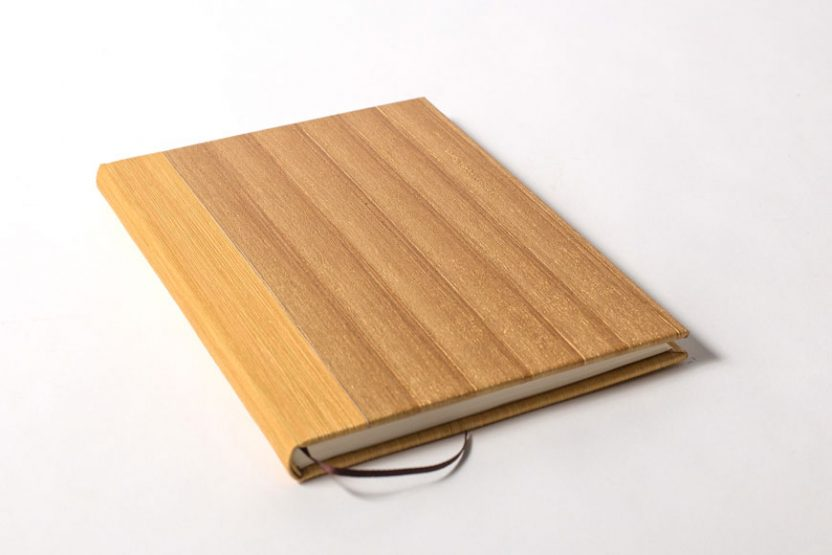Cuaderno en Blanco Vinilo Ocre