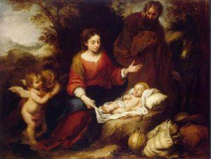 Descanso en la huida a Egipto. Bartolomé Esteban Murillo