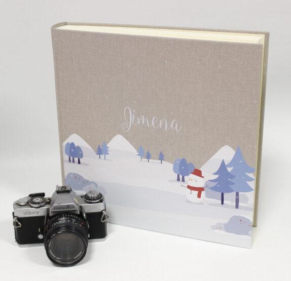 Álbum de fotos con portada de tela impresa